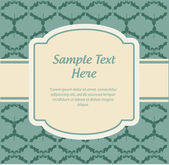 Vintage invitation — Stock Vector