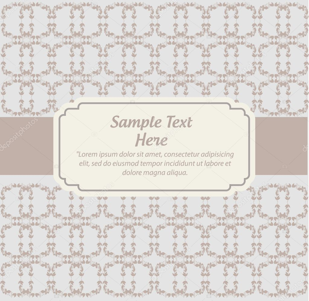 Vintage invitation — Stock Vector #10160902