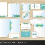 Vector stationery design set — Stock Vector