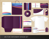 Vector stationery design set — Stock Vector