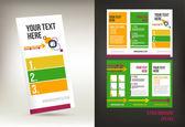 Vector tri fold brochure — Stock Vector