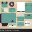 Elegant vintage stationery set — Stock vektor