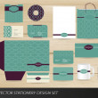 Elegant vintage stationery set - Stock Vector