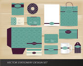 Elegant vintage stationery set — Stock Vector