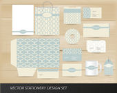Elegant vintage stationery set — Stock Vector