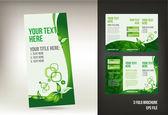 Eco green brochure design — Stock Vector