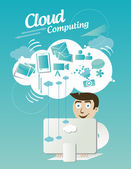 Cloud computing — Stock vektor