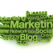 Green marketing words — Stock Photo