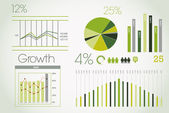 Green infographic — Stock Vector
