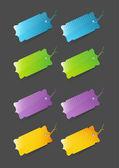 Cenovky barevné — Stock vektor