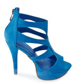 Blue woman fashion shoe — Stock Photo
