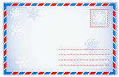 Winter envelope — Stock Vector