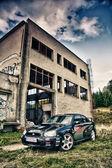 Subaru Impreza WRC in ruins — Stock Photo