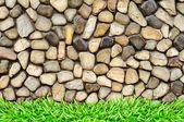 Gras-frame felswand — Stockfoto