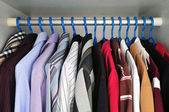Shirts that are hanging — 图库照片