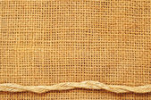 Frame of ropes on sack — Stock Photo