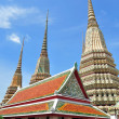 Ancient Pagoda or Chedi at Wat Pho - Stock Photo