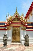 Porta no templo de wat pho — Foto Stock