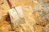 Tool shovel cement — Stock Photo