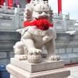 Chinese Lion Stone Sculpture in the Chinese Temple — Stock Photo #9633981