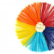 Colorful ropes of circle - Stock Photo