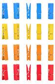 Ropa madera pin colores con ruta — Foto de Stock