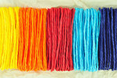 Colorful ropes on Tissue paper — Stock Photo