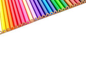 Color pencils background isolated — Stock Photo