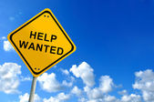 Help wanted on bluesky — Stock Photo