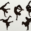 The figure of street dancers - Stock Photo