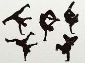 The figure of street dancers — Stock Photo
