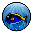 The Marine Fish — Stock Vector