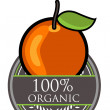 Orange Organic label — Stock Vector