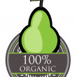Pear Organic label — Stock Vector