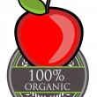 Royalty-Free Stock Vector Image: Red Apple Organic label