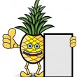 Pineapple Banner — Vettoriali Stock