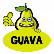 Smile Guava Banner — Stock Vector