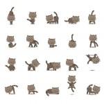 20 Set Cat — Stock Vector