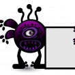 Purple virus Banner - Stock Vector