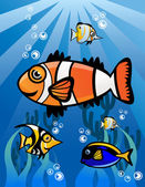 Fish Group — Stock Vector