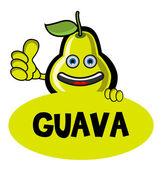 Smile Guava Banner — Stock Vector