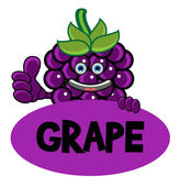 Smile Grape Banner — Stock Vector