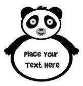 Panda Bear Banner — Stock Vector