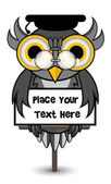 Wise owl banner — Stock Vector