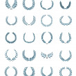 20 wreaths vector set - Stok Vektr