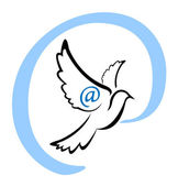 Dove Email Symbol — Stock Vector