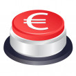 Euro stop vector button — Stock Vector