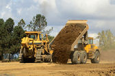Dumping Dirt — Stock Photo
