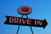 Drive In Sign — Stock Photo