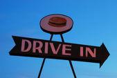 Guidare in segno — Foto Stock